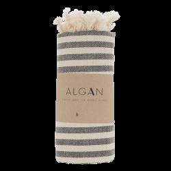 Algan Kavun badehåndklæde 85x180 cm. sort-20