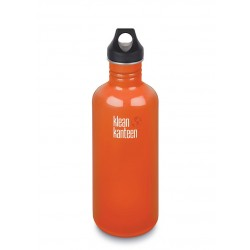 Klean Kanteen 1182 ml. Flame Orange skruelåg-20