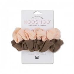 Kooshoo økologiske hår scrunchie fersken and valnød-20