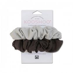Kooshoo økologiske hår scrunchie lys og mørk grå-20