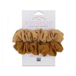 Kooshoo økologiske hår scrunchie gylden and sand-20
