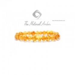 Rav armbånd voksen honey polerede-20