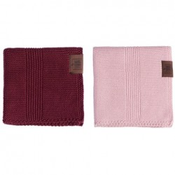 By Lohn all round cloth 25x25 cm. 2 stk. light pink and maroon-20