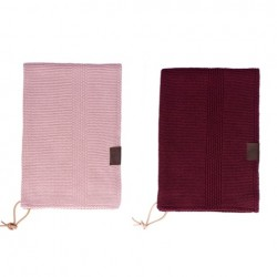 By Lohn all round towel 35x50 cm. 2 stk. light pink and maroon-20