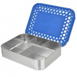 LunchBots Bento CINCO blue dots ekstra stor madkasse-20