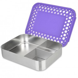 LunchBots Bento TRIO purple dots ekstra stor madkasse-20