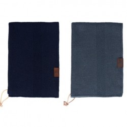 By Lohn all round towel 35x50 cm. 2 stk. dark grey and navy-20