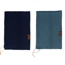 By Lohn all round towel 35x50 cm. 2 stk. petrol and navy-20