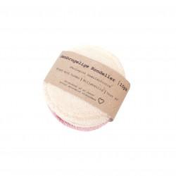 Pargaard genbrugelige øko-bomuldsrondeller 10 stk. natur and rosa-20