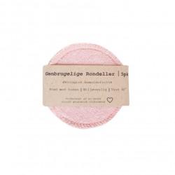Pargaard genbrugelige øko-bomuldsrondeller 5 stk. rosa-20