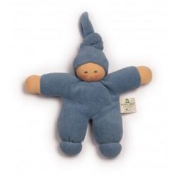 Nanchen dukke 17 cm. blå-20