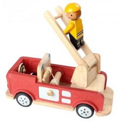 Plan Toys brandbil i træ-20