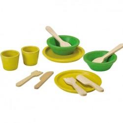 Plan Toys legemad i træ service sæt-20