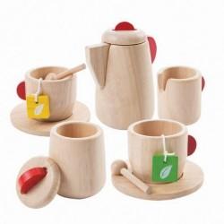Plan Toys legemad i træ te sæt natur-20