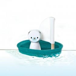 Plan Toys isbjørn sejlbåd-20