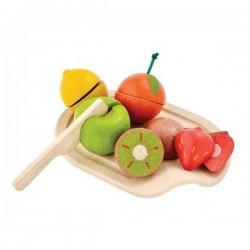 Plan Toys legemad i træ blandede frugter-20