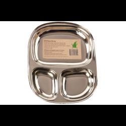 Pulito tallerken i 3 rum stål lille-20