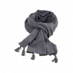 Pure Pure stort halstørklæde merinould and kashmir grå-20
