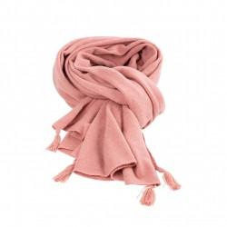 Pure Pure stort halstørklæde merinould and kashmir duset rosa-20