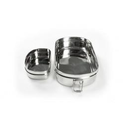 Pulito madkasse i stål 3-i-1 oval-20
