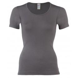 Engel dame kortærmet t-shirt uld and silke taupe-20
