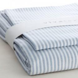 VivaTex sengesæt voksen størrelser seablue stribe-20