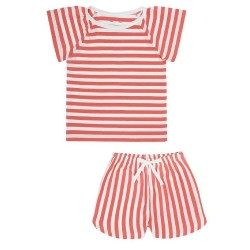 Snork Copenhagen SELMA pyjamas red seastripes-20