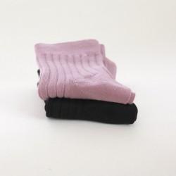 Snork Copenhagen strømper 2-pak sort and støvet rosa-20