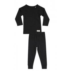 Snork Copenhagen pyjamas unisex black melange-20
