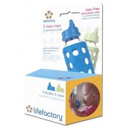 Lifefactory pakke med 2 stk. sippy cap flere farver-20