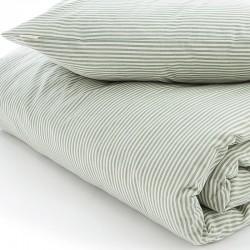 VivaTex sengesæt voksen størrelser grøn stribe-20