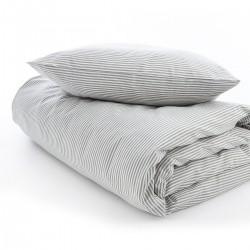 VivaTex sengesæt voksen størrelser grå stribe-20