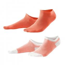 Living Crafts 2-pak sneakers strømper koral og koralstribede-20