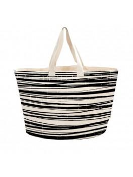 Bo Weevil stor taske kraftig canvas stripes-20