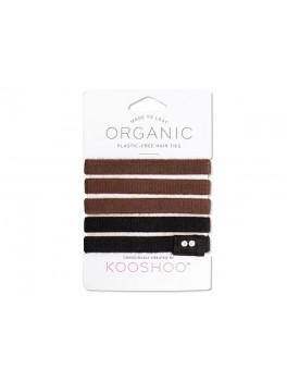 Kooshoo økologiske hårelastikker 5 stk. sort and brun-20