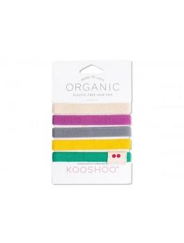 Kooshoo økologiske hårelastikker 5 stk. farverig-20