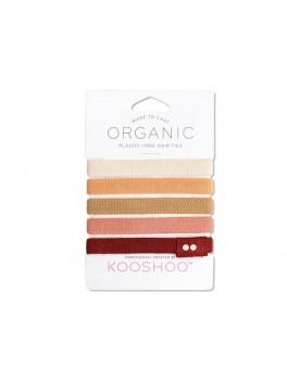 Kooshoo økologiske hårelastikker 5 stk. ginger-20