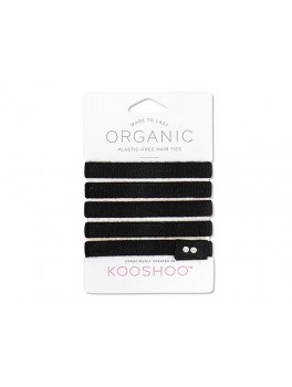 Kooshoo økologiske hårelastikker 5 stk. sort-20