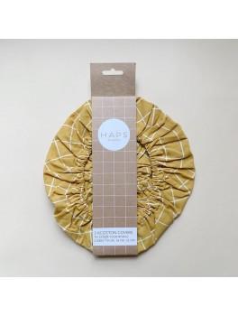 Haps Nordic 3-pak cotton covers mustard check-20