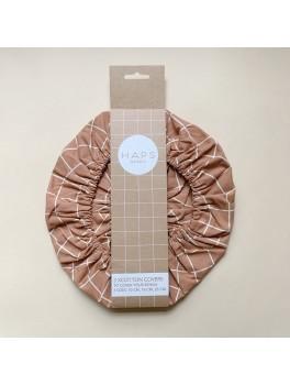Haps Nordic 3-pak cotton covers terracotta check-20