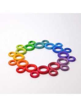 Grimms bygge ringe 24 stk. klassiske farver-20