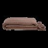 Algan Dolu plaid eller tæppe 110x190 cm. chokoladebrun-01