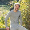 Engel herre langærmet t-shirt uld and silke grå-01