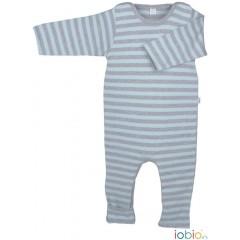 Iobio - heldragt m. ombuk - blå & grå