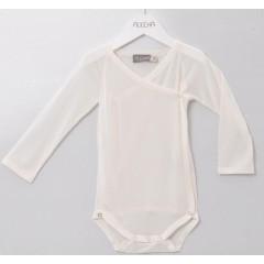 Alkena - langærmet kimonobody - økologisk silke - natur