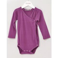Alkena - langærmet kimonobody - bourette silke - mørk lilla
