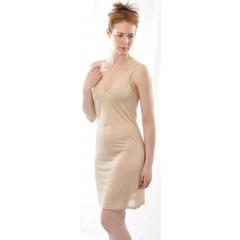 Alkena - underkjole/natkjole - økologisk silke - nude