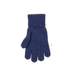 Pure Pure - fingerhandsker - uld/silke/bomuld - marineblå