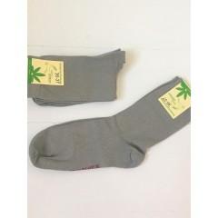 Hirsch - strømper - unisex - bomuld & hamp - grå