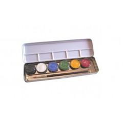 Eulenspiegel - ansigtsfarver - sminke farver - 6 farver perle